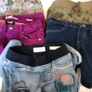 5 pairs of girls pants size 6